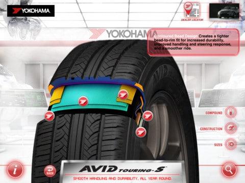 Aplicatie Yokohama Commercial Tire Navigator