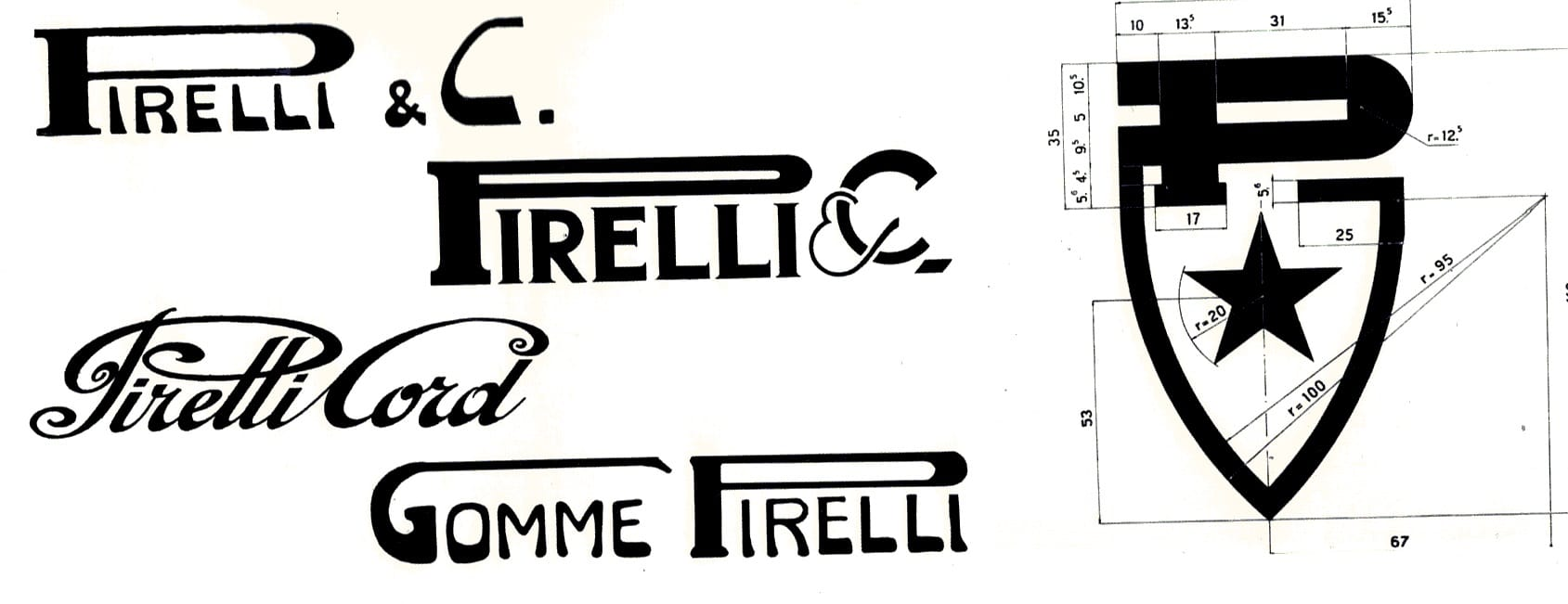 logo producator de anvelope pirelli