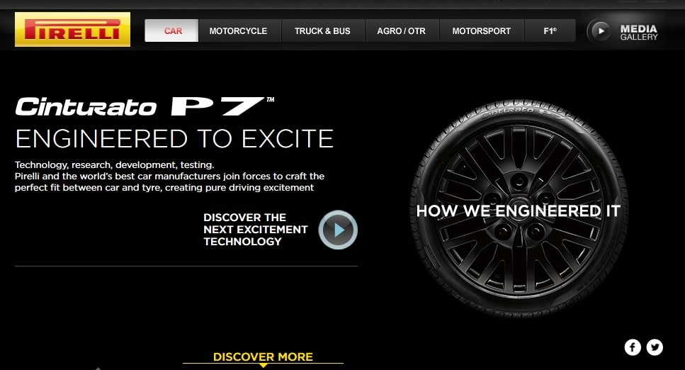pirelli engineered to excite