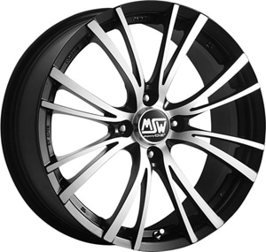 Janta Aliaj MSW 20 4 Matt Black Full Polished 7x17 4x108 42 63.4