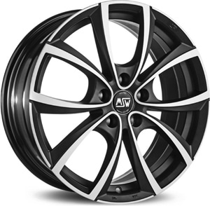 Janta Aliaj MSW 27 Matt Dark Titanium Full Polished 7.5x17 5x114.3 45