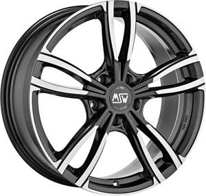 Janta Aliaj MSW 73 Gloss Dark Grey Full Polished 8x18 5x112 35