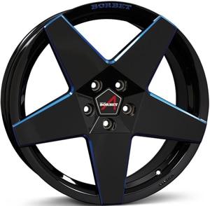 Janta Aliaj BORBET A Black Blue Glossy 8x18 5x112 45 66.5