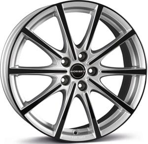 Janta Aliaj BORBET BL5 Silver Black Glossy 8x18 5x112 50 72.5