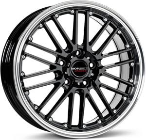 Janta Aliaj BORBET CW2 Black Rim Polished 8.5x18 5x110 35 65.1