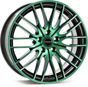 Janta Aliaj BORBET CW4 Black Green Glossy 7x17 4x100 38 56.6