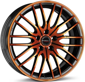 Janta Aliaj BORBET CW4 Black Orange Glossy 7x17 4x108 20 65.09