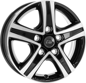 Janta Aliaj BORBET CWD Black Polished Glossy 6x16 5x130 68 78.1