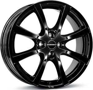 Janta Aliaj BORBET LV4 Black Glossy 7x17 4x108 38 72.5