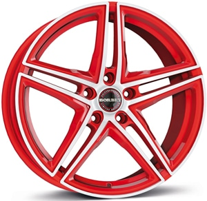 Janta Aliaj BORBET XRT Racetrack Red Polished 9.5x19 5x120 35 72.5